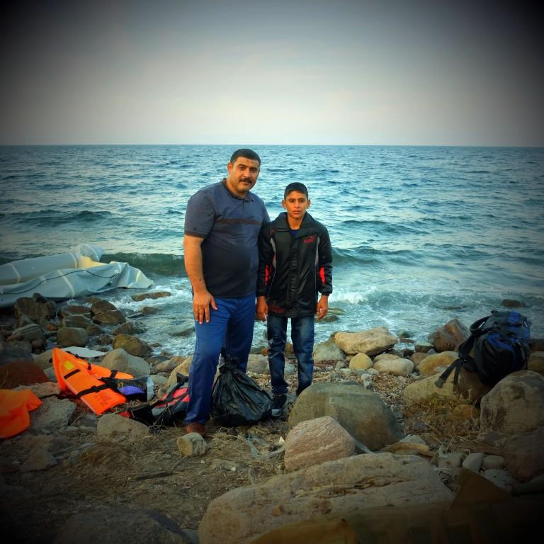 0014Hamide y su hijo Youssef procedentes de Alepo en Siria